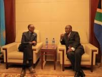 Ahead of Quadripartite at Gatuna, Kagame and Ramaphosa Meet for 9th Encounter