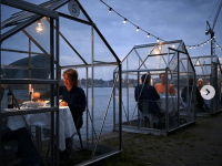 "Innovative Coronavirus ""Social Distancing Restaurant"" Opens in Amsterdam"