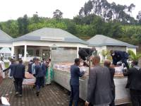 Keeper At Genocide Memorial Site Takes Out Coffins To Use For Cooking